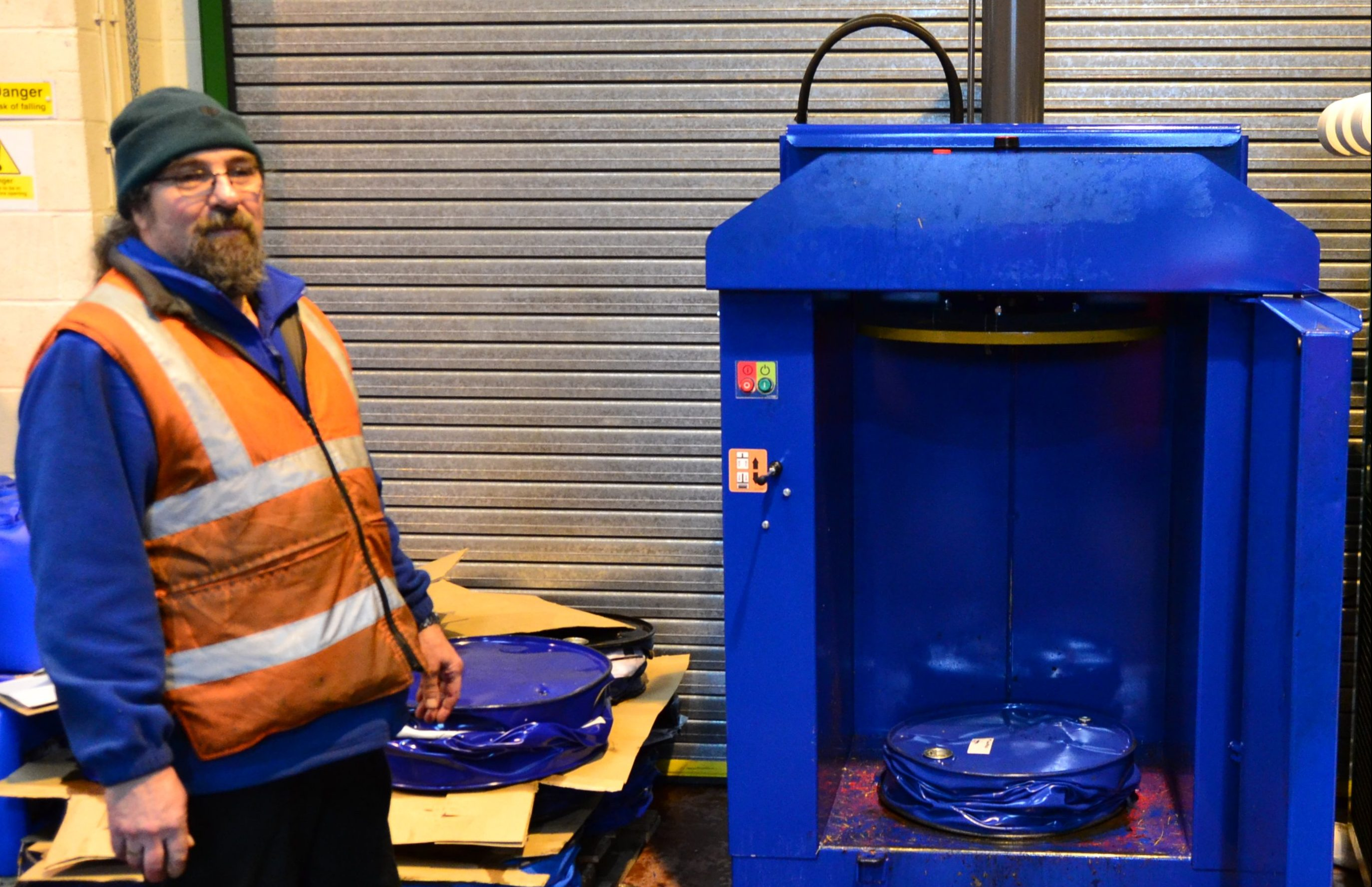 Drum Crusher from Ag-mac creates space at Kerax Manufacturing Plant